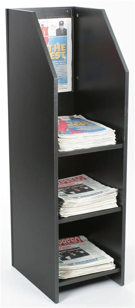Newspaper Racks For Sale Used by 3 Shelf Wood Newspaper Stand 50 To Be Easily Noticed
