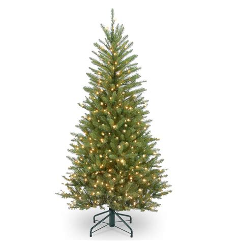 national tree dunhill fir troubleshooting national tree company 4 5 ft dunhill fir slim tree with clear lights duslh1 45lo the home depot