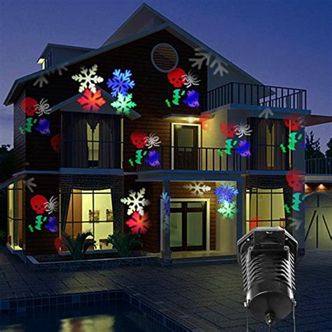 christmas lights projected on house projection lights led projector light kohree outdoor light snowflake spotlight 10 pattern