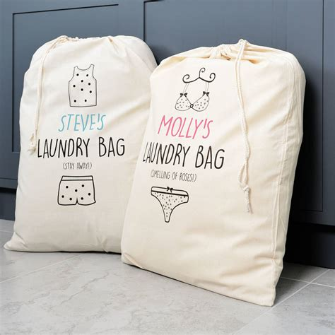 Personalised His And Hers Laundry Bag Set By A Type Of Hers Laundry