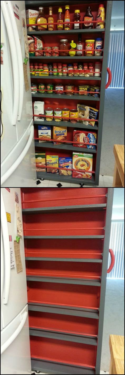 how to make a pantry out of a bookcase how to build a roll out shelf large fridge refrigerator