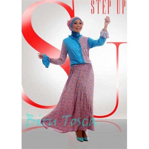 Moana Tosca Gamis step up biru tosca baju muslim gamis modern