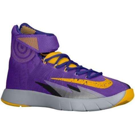 hyper nike basketball shoes purple and gold nike shoes nike zoom hyper rev s