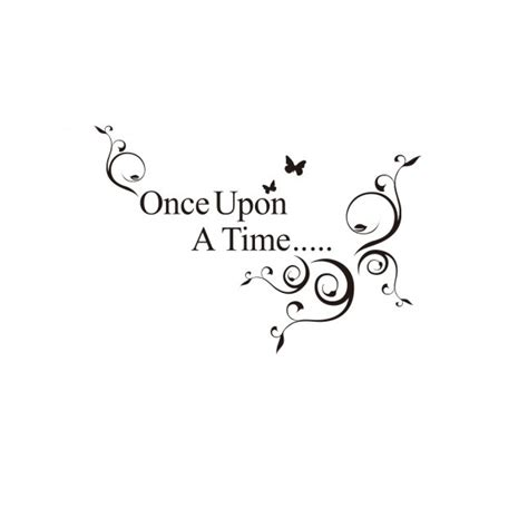 Disney Fairy Wall Stickers once upon a time wall quote