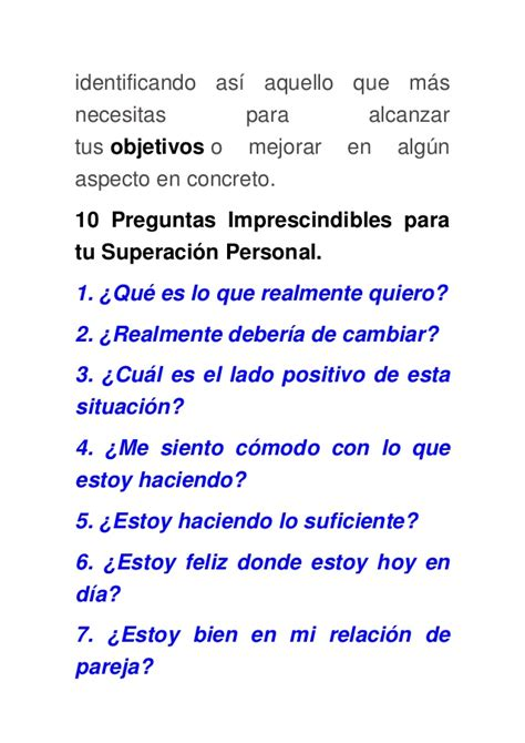 10 preguntas a tu novio 10 preguntas para tu superaci 243 n personal
