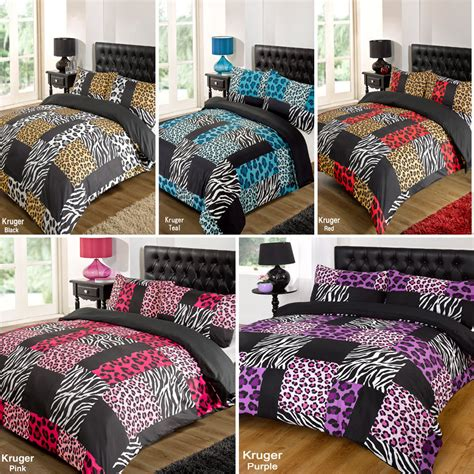 Leopard Print Quilts by Kruger Zebra Leopard Black White Animal Print Duvet Quilt