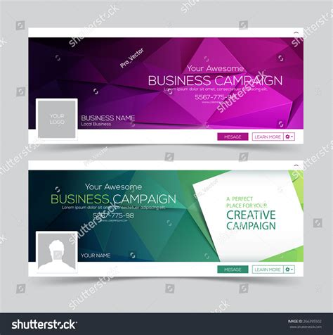 layout design for web banner web banner header layout template creative stock vector