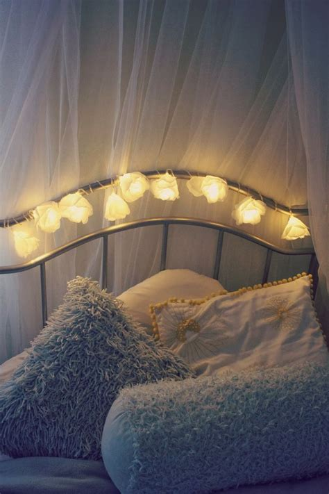 cost flower fairy lights bedroom decor idea