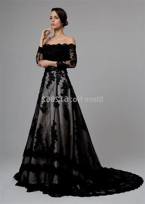 black wedding dresses long sleeve black wedding dress