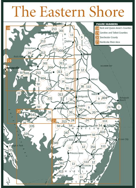 map maryland eastern shore towns sherpa guides chesapeake bay the eastern shore