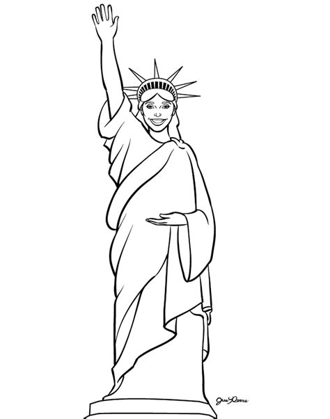 statue of liberty coloring page az coloring pages