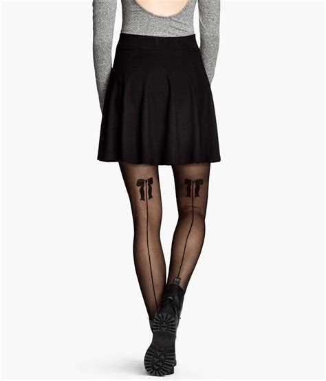 Patterned Tights M S | h m patterned tights in black lyst