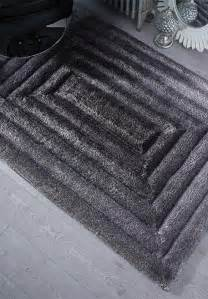 Rugs Black And Grey by Verge Ridge Rug In Black And Grey Free Delivery Rugs Uk