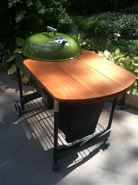 weber grill table plans tyual table plans for weber kettle backyard ideas all