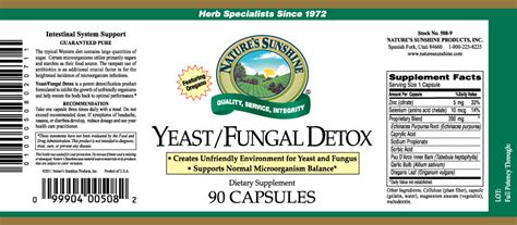 Nature S Yeast Fungal Detox Reviews by Yeast Fungal Detox