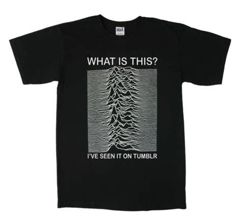 Kaos T Shirt Pop Culture 05 what is this unknown pleasure a division album t