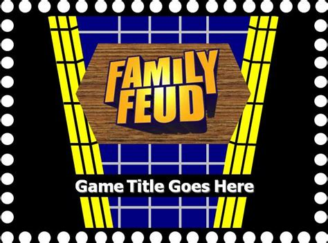family feud powerpoint template free family feud with