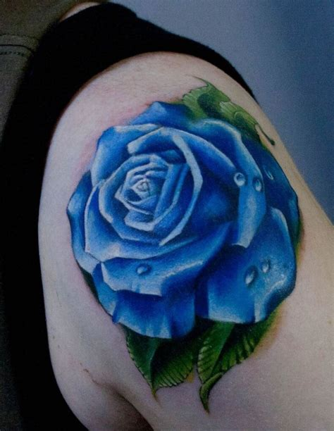 rose tattoos pictures blue tattoos blue roses blue