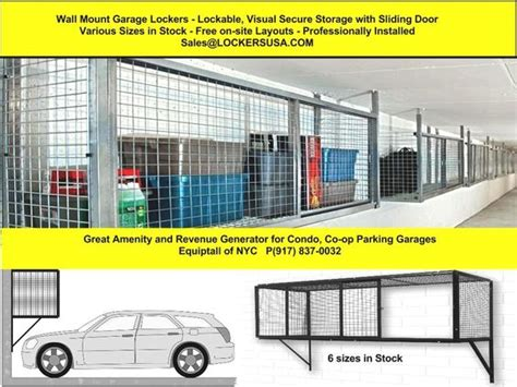 Co Op Parking Garage by Wall Mount Garage Lockers In Nyc Equiptalls Wall Mount