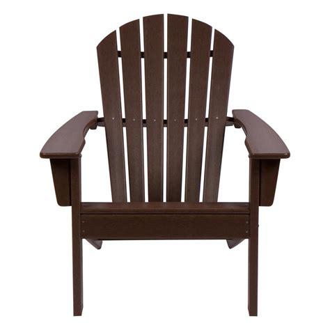 shine company mocha seaside plastic adirondack chair mo  home depot