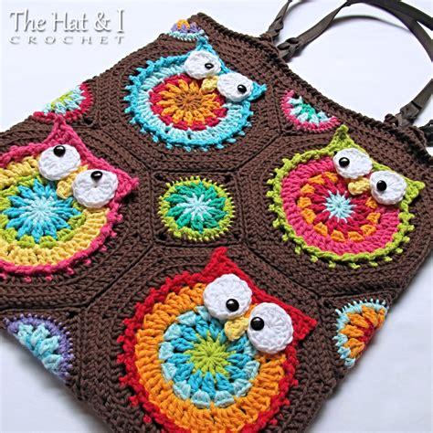 crochet pattern owl purse crochet pattern owl tote em a colorful crochet owl