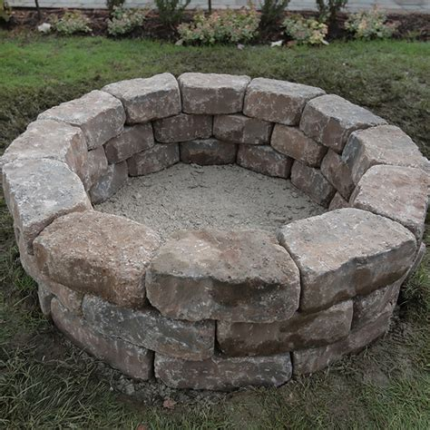 How To Build A Fire Pit Ring How To Build A Firepit With Pavers