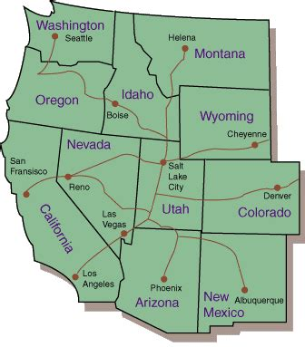 printable map of the western united states utah travel center
