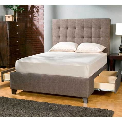 padded headboard with storage manhattan upholstered storage bed by seahawk designs