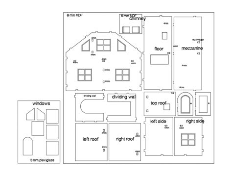 small doll house dxf file   axisco