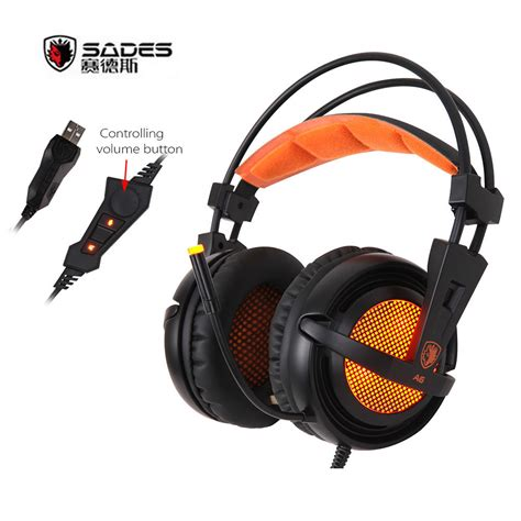 Headset Gaming Sades A9 Orange 1 sades a6 usb gaming headphones professional ear headset 7 1 surround sound wired mic