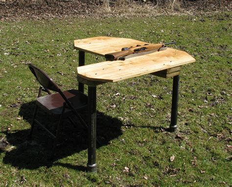diy shooting bench plans home made shooting bench many photos