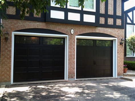 Garage Entry Door Black Garage Doors With Windows Dave S For The Home Black Garage Doors Garage