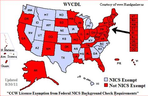 Ccw Background Check 2 More States Qualify For Nics Exemption For Concealed