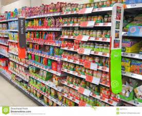 baby food shelf in a store editorial stock image image
