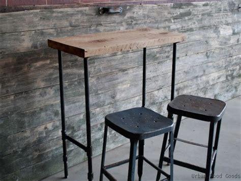 Diy Breakfast Bar Table Breakfast Bar Table Pipe Tables Desks Furniture Pinterest