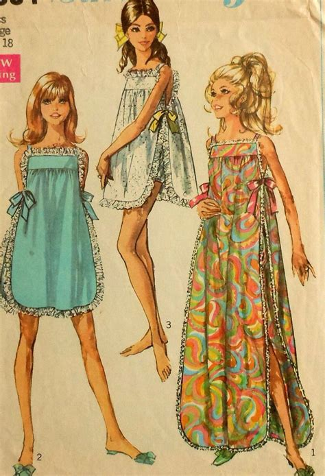 sewing patterns young fashion teen nightwear patterns from 60s vintage nightwear