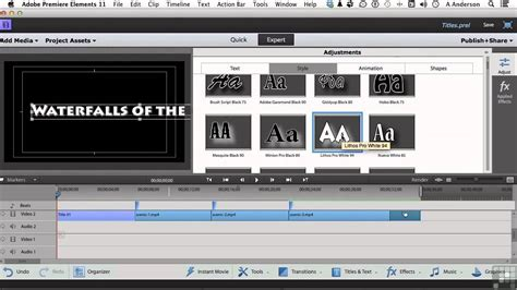 tutorial adobe premiere elements adobe premiere elements 11 tutorial working with basic