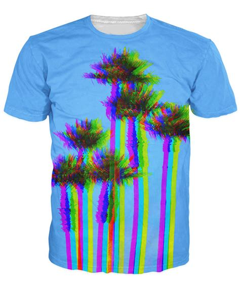 Tshirt Printing Small Palm l a trees t shirt trippy looking palm trees 3d print t shirt fashion clothing summer