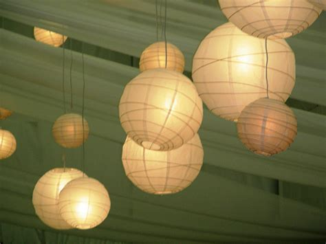 A Paper Lantern - how to light your room with lights and