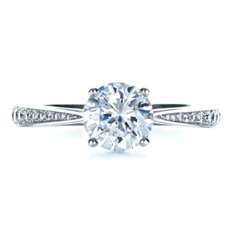 Classic Engagement Rings by Classic Engagement Ring With Bright Cut Set Diamonds 1396