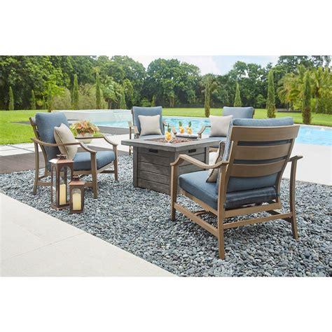 patio furniture pit table set home decorators collection bridewell 5 aluminum