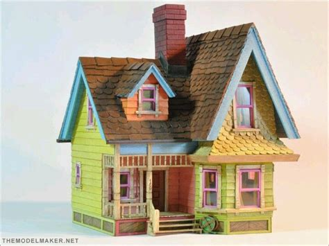 disney doll houses popsicle stick house the quot up quot house good ideas pinterest popsicle stick houses