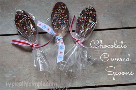 Teaspoon Gift Card - chocolate covered spoons typically simple