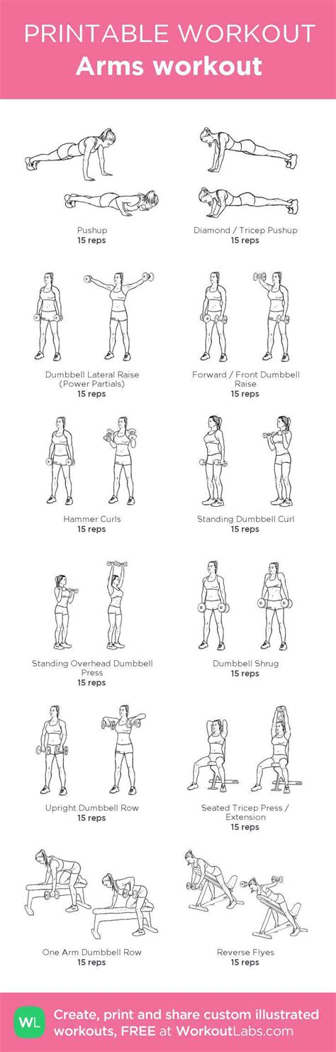 best arm workouts for with dumbbells