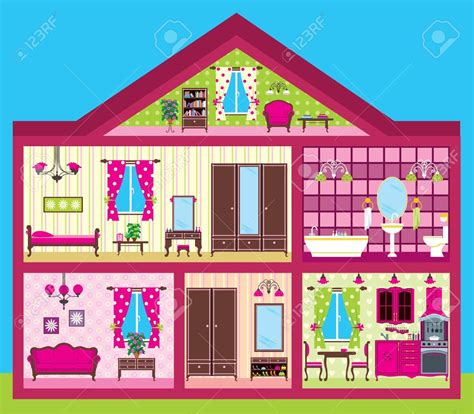 rooms of a house inside clipart house rooms pencil and in color inside