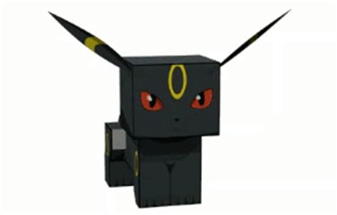 Umbreon Papercraft - umbreon cube craft free paper