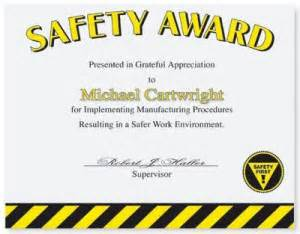 safety certificate template safety recognition paperdirect