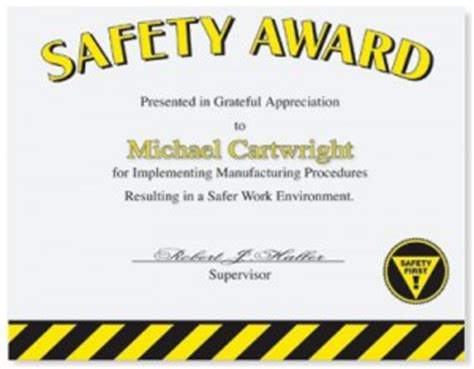 safety certificate templates safety recognition paperdirect