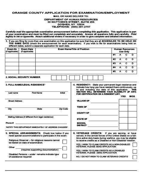 Civil Service Application Review Civil Service Application Form New York Free
