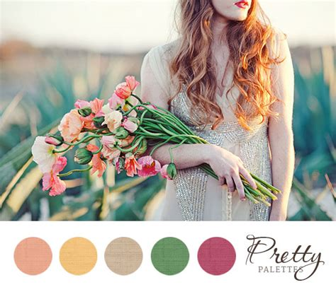 spring wedding colors pretty palettes 34